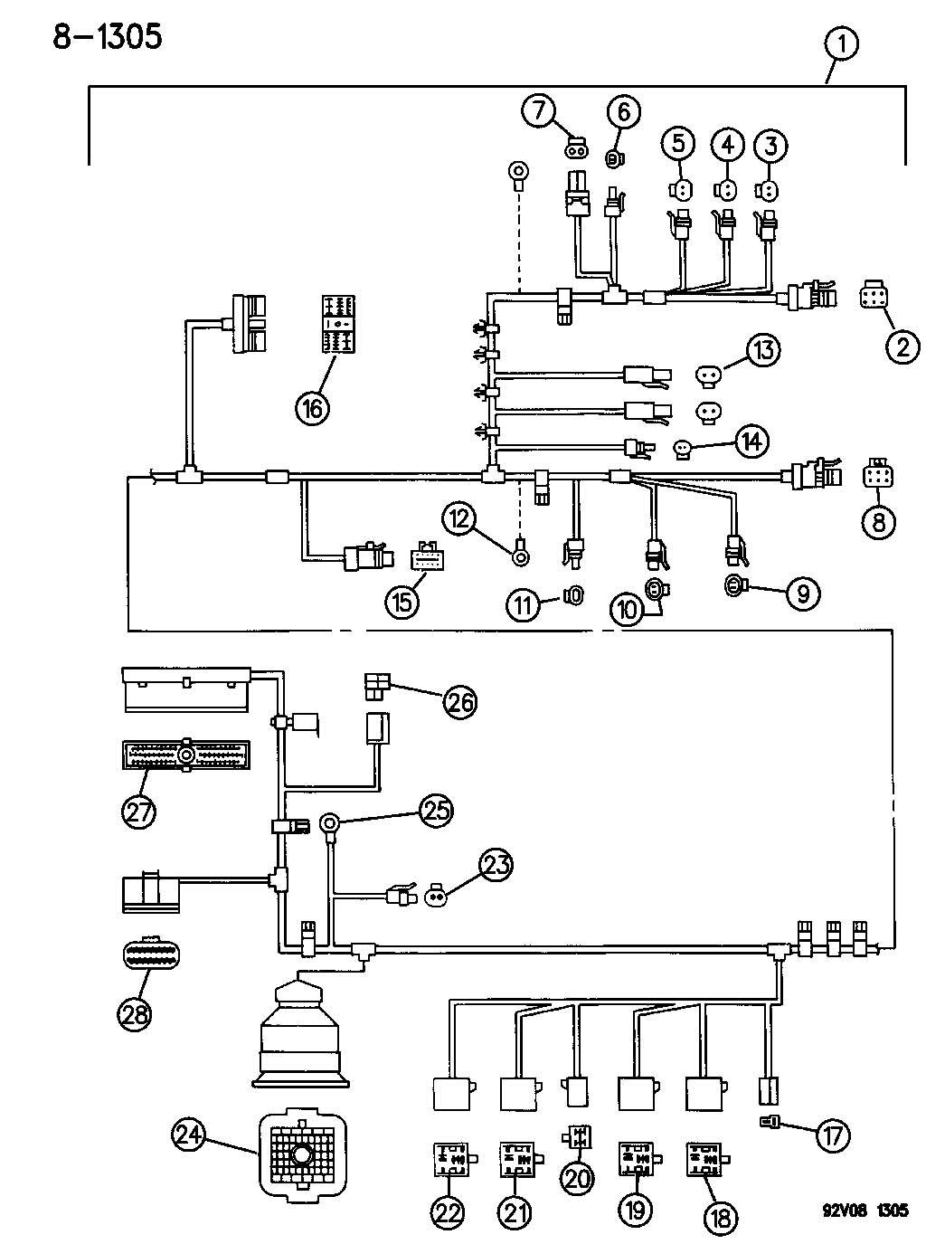 Dodge Ram Insulator 2 Way Male Horn Repair Kit