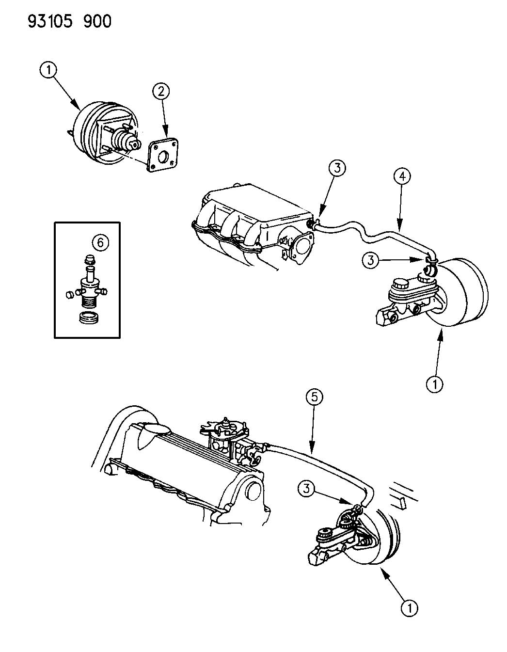 Jeep Grand Cherokee Hose Emission Control Vapor Axle