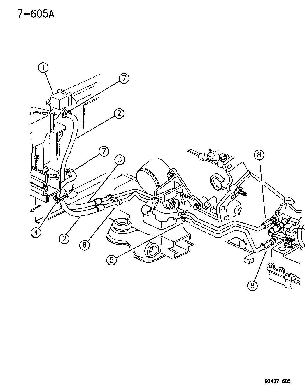 Dodge Intrepid Line Transmission Oil Cooler Pressure