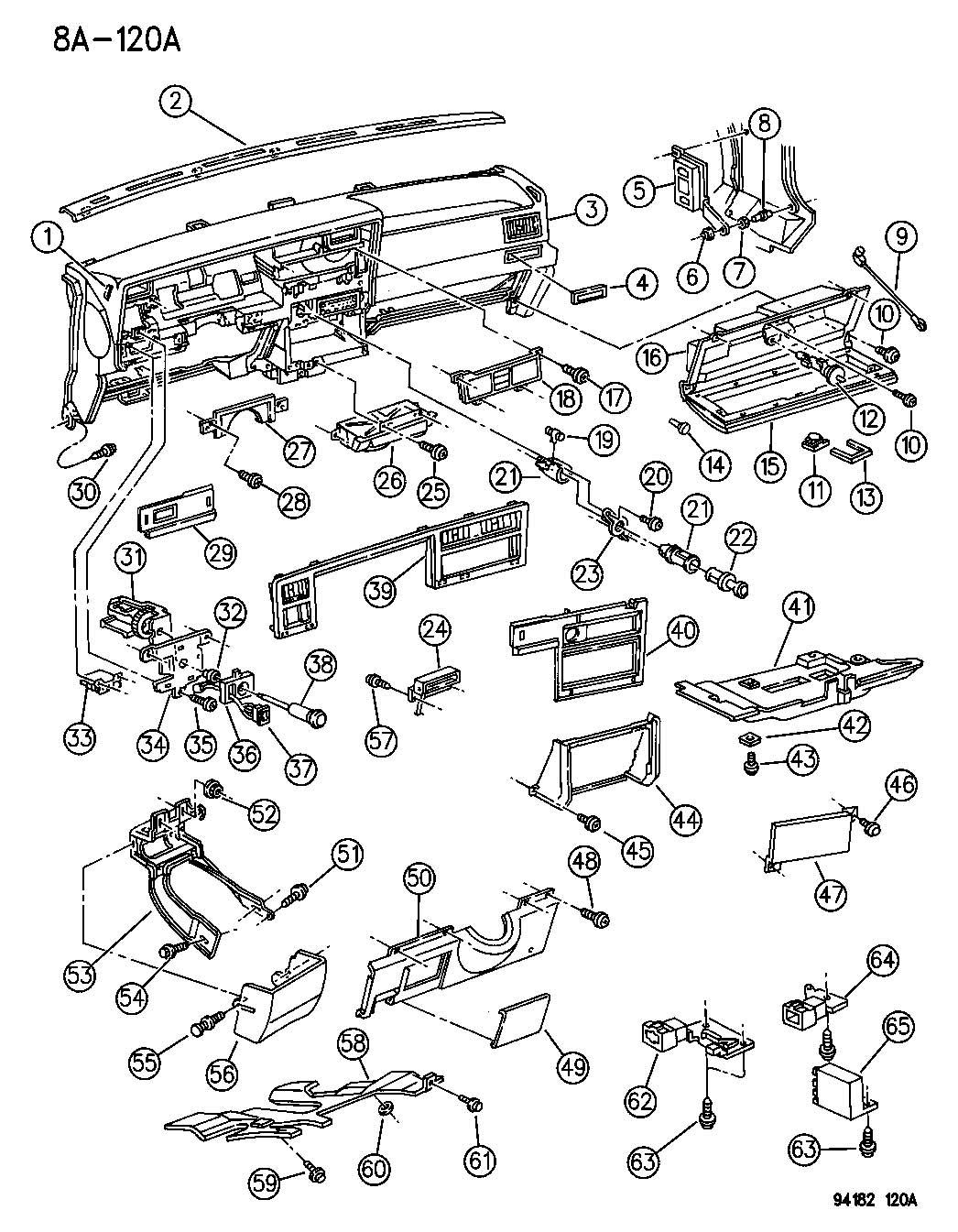 Jeep Grand Cherokee Bezel Instrument Panel Lower