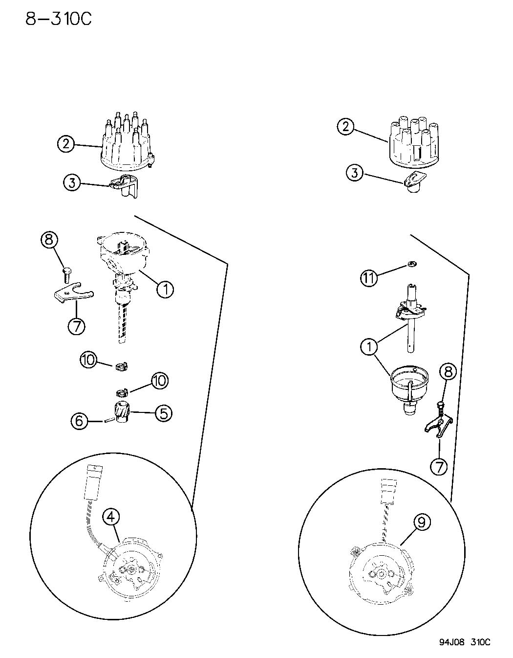 Jeep Wrangler Rotor Distributor Wdist Distributors