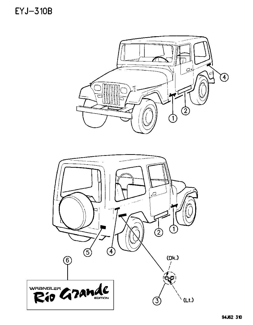Jeep Wrangler Decal Rio Grande