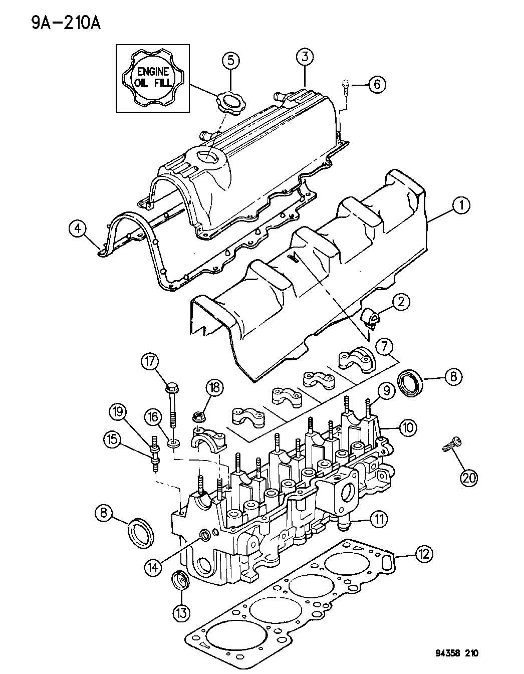 Chrysler Pacifica Bolt Cylinder Head Hex Flange Head