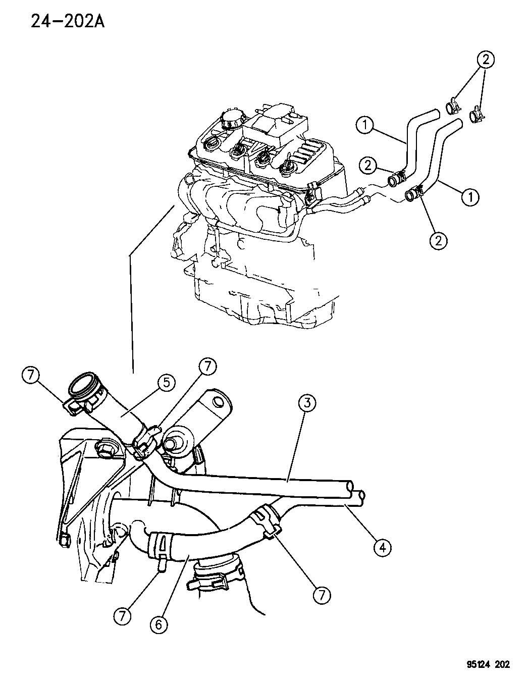 Chrysler Sebring Hose Export Heater Tube To Engine