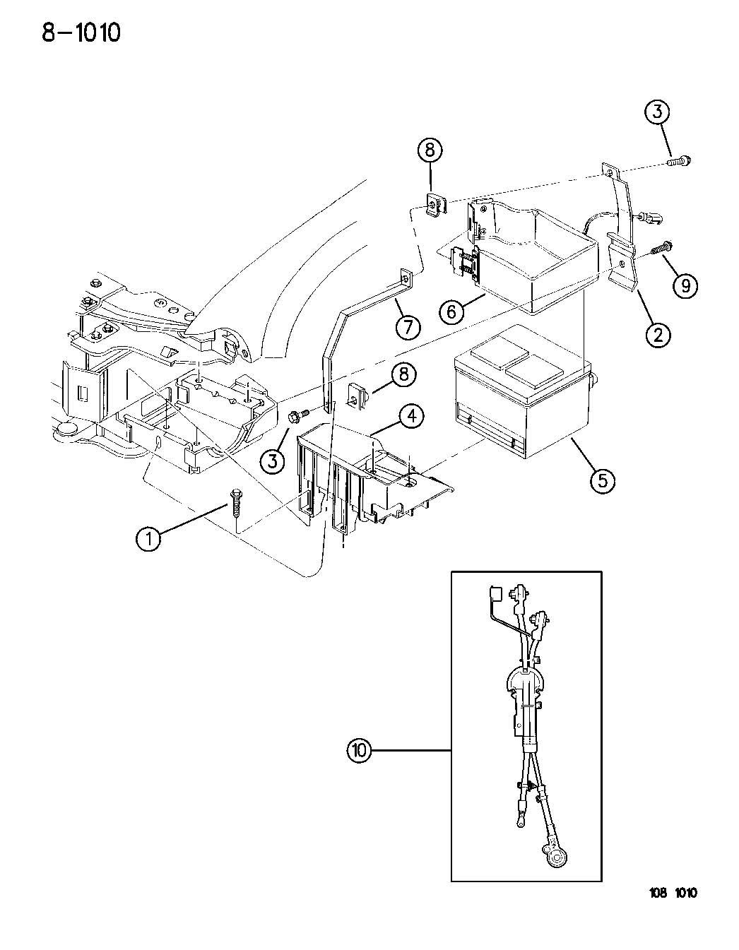 Dodge Stratus Wiring Battery Standard Post Negative
