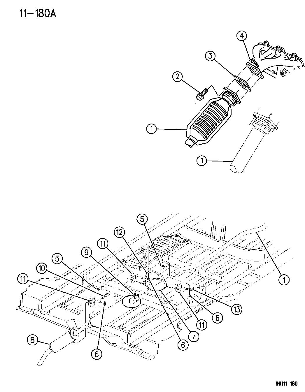 Chrysler Aspen Insulator Isolator Exhaust Exhaust