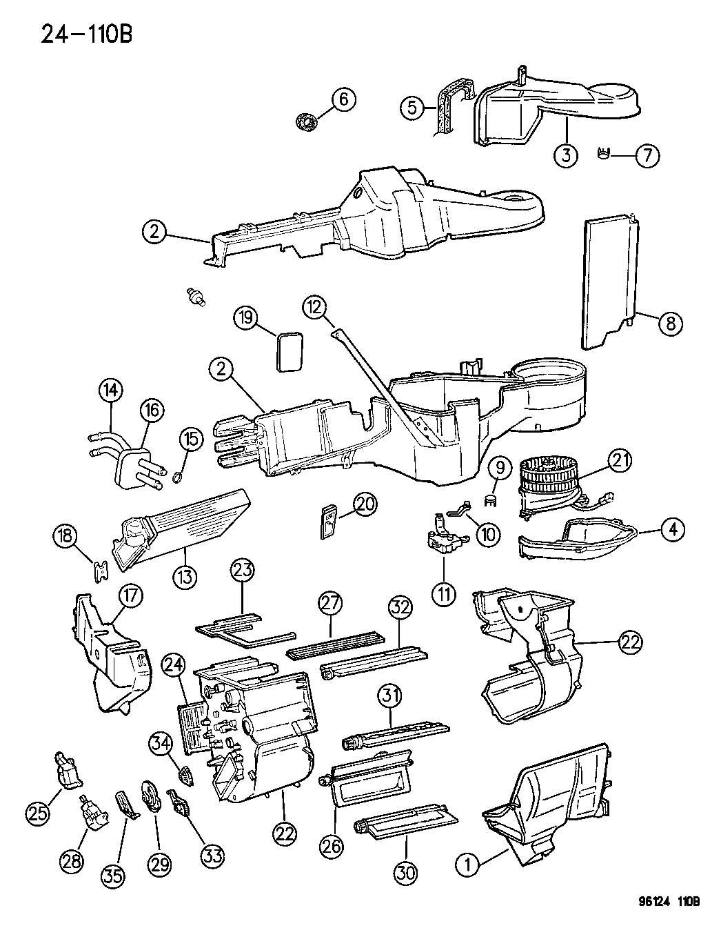 Dodge Grand Caravan Housing Blower Motor Recirculation