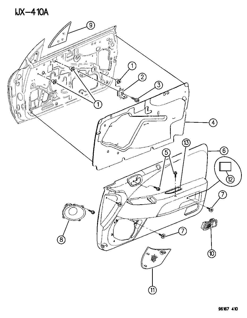 Chrysler Sebring Jx Convertible 2 5l V6 A T Grille