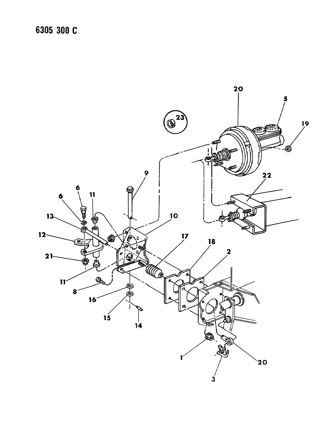 Dodge Ram Clip Brake Pedal Booster Push Rod Pin
