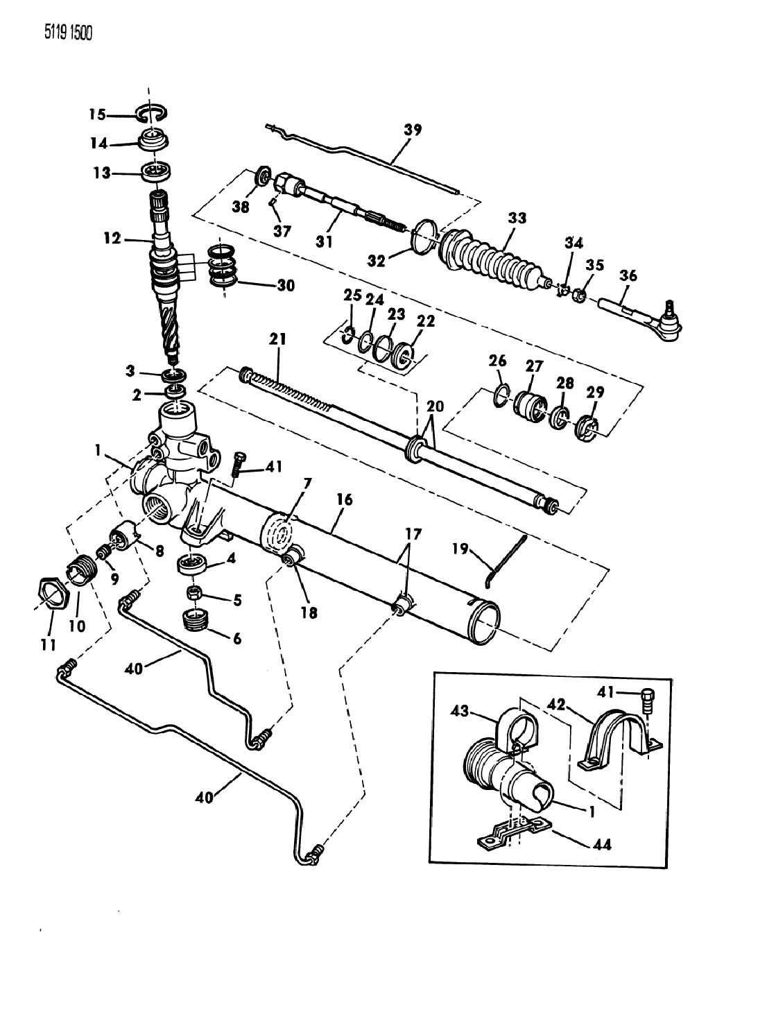 Chrysler Town Amp Country Nut Steering Gear Lock