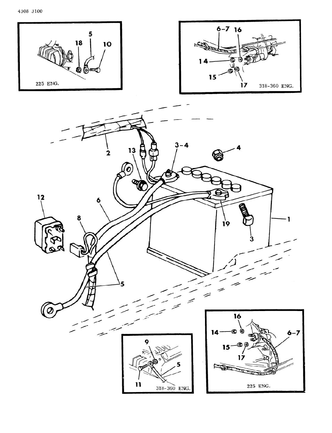 Dodge Wiring Battery B Models