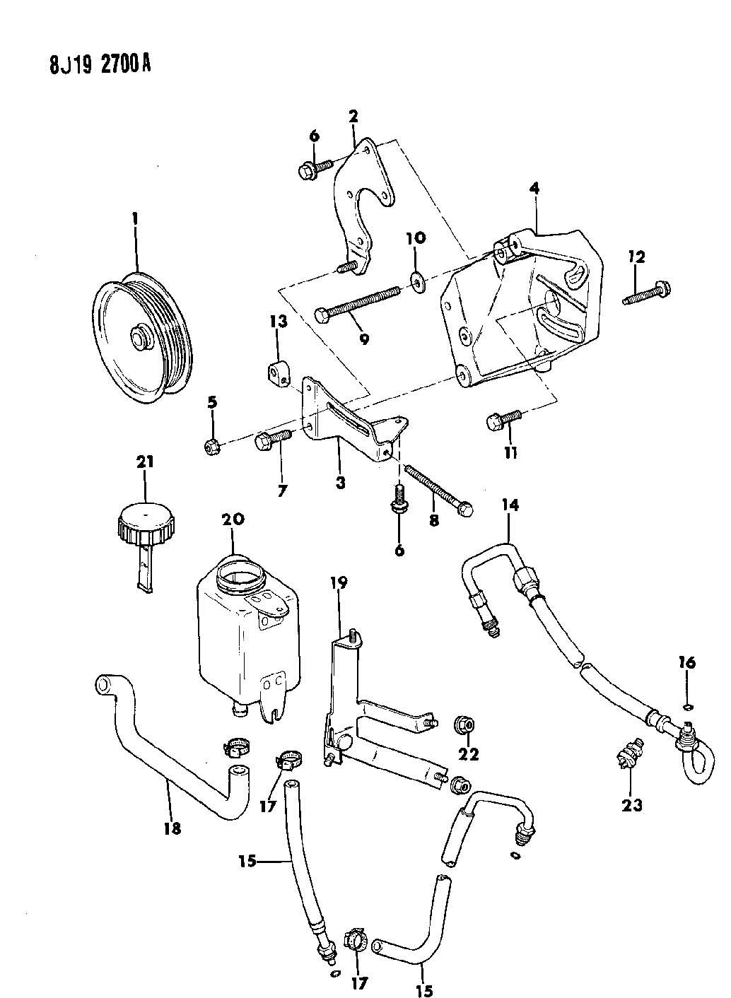 Jeep Cherokee Pump Mounting Power Steering Cherokee