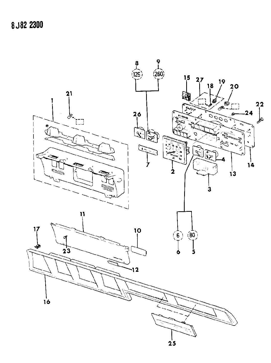 Jeep Instrument Cluster Grand Wagoneer J10 J20