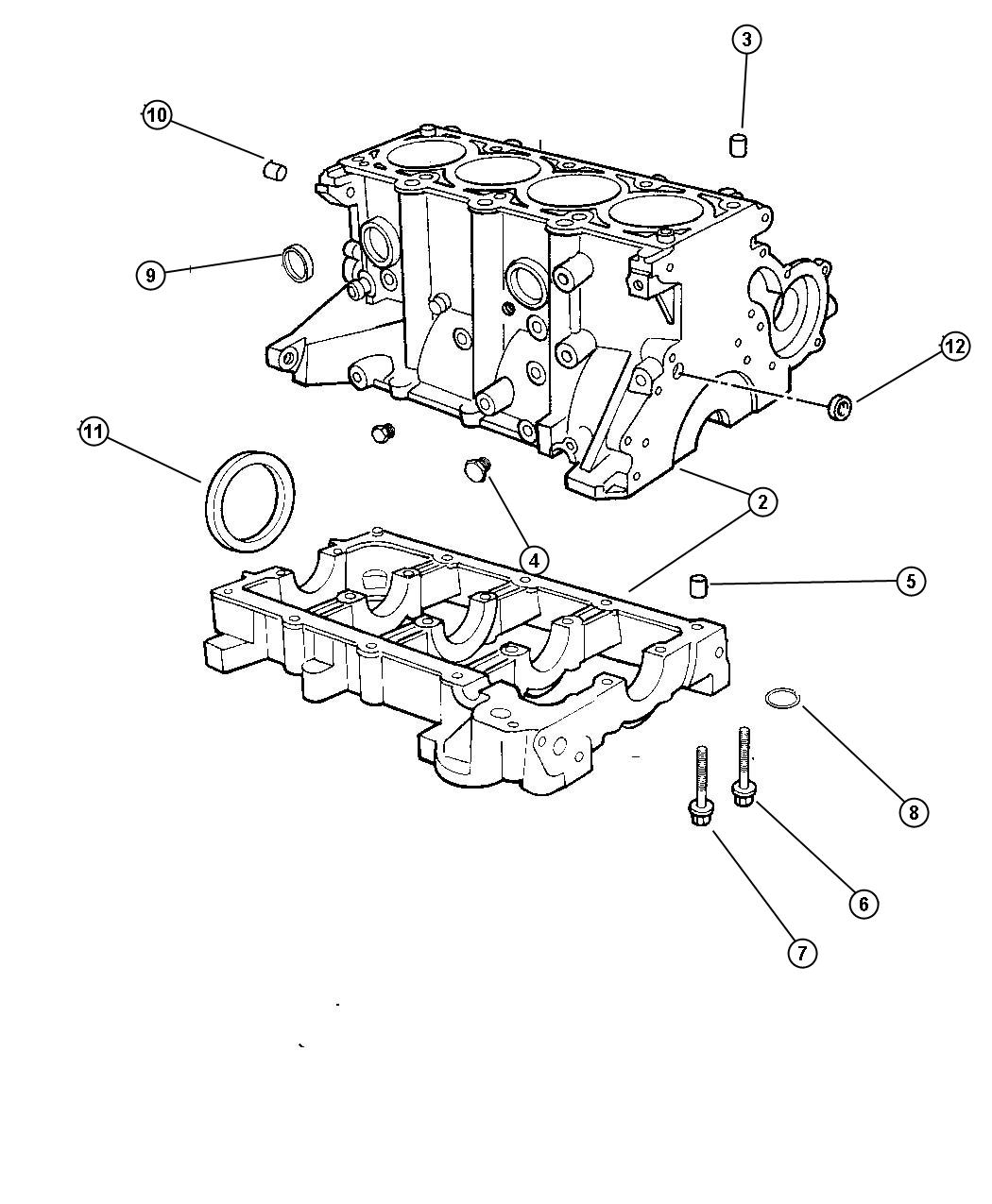 Dodge Neon Dowel Dowel Pin Engine Block To Bedplate