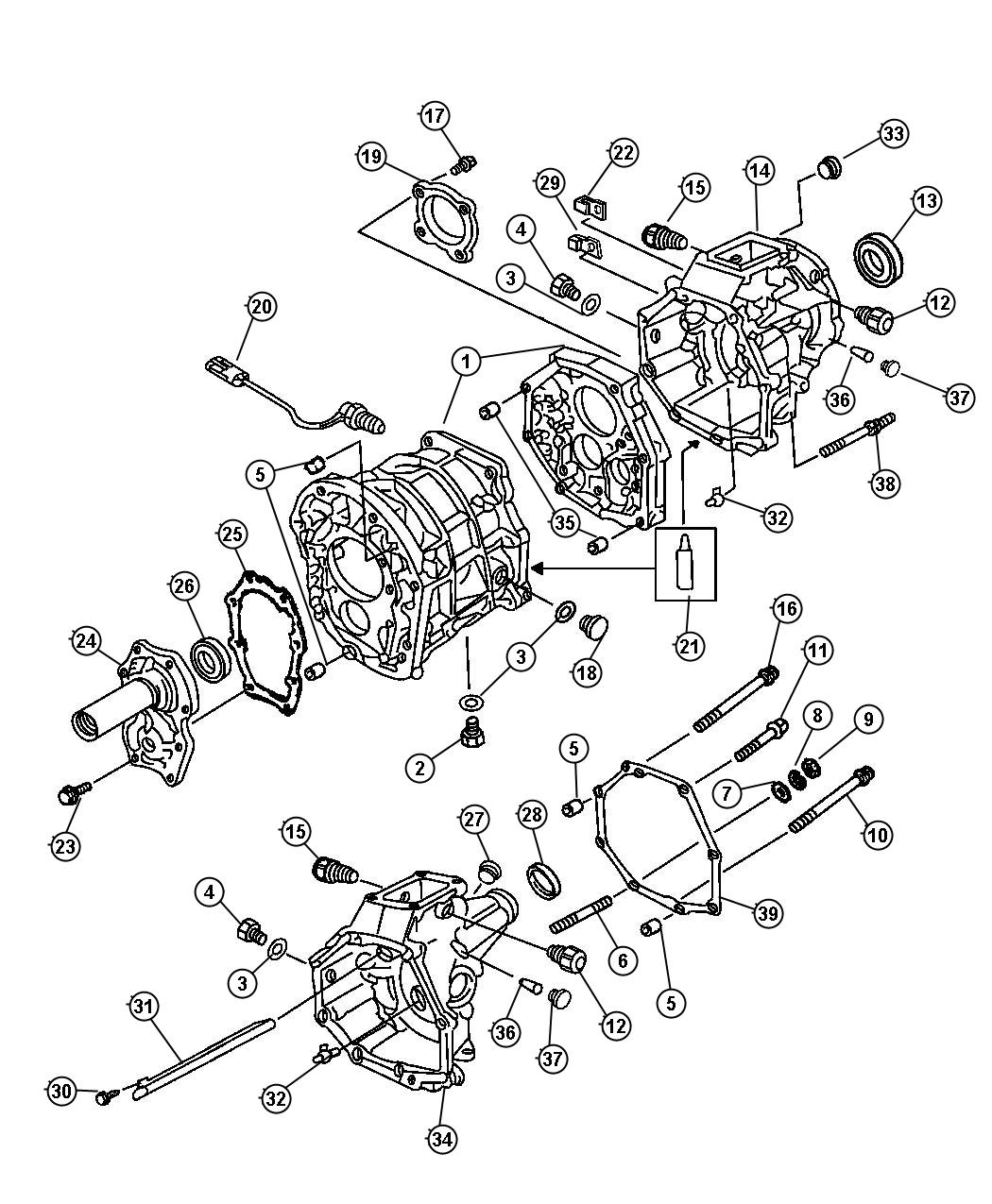 Jeep Cherokee Clamp Transmission