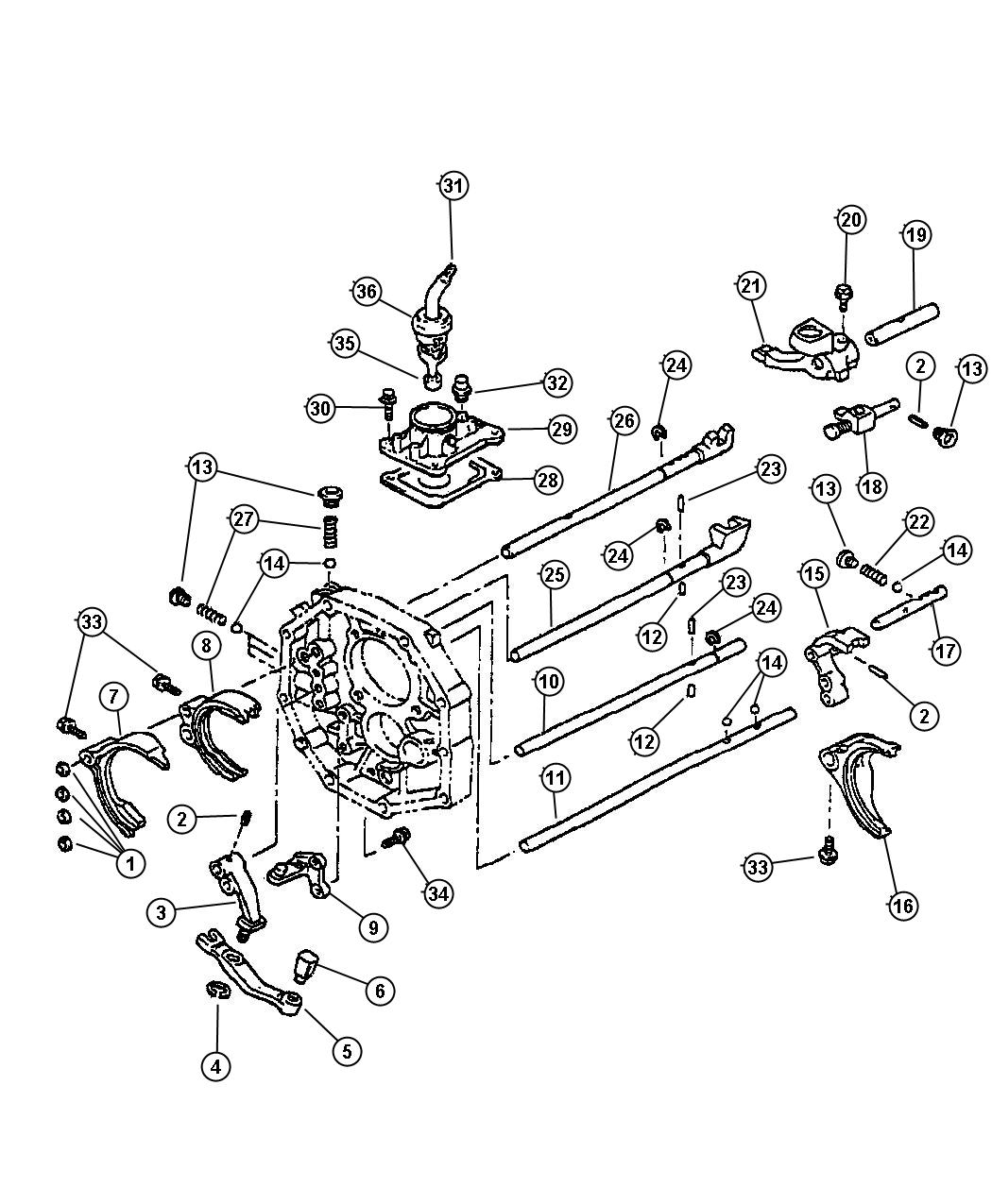 Toyota Transmission Shift Fork