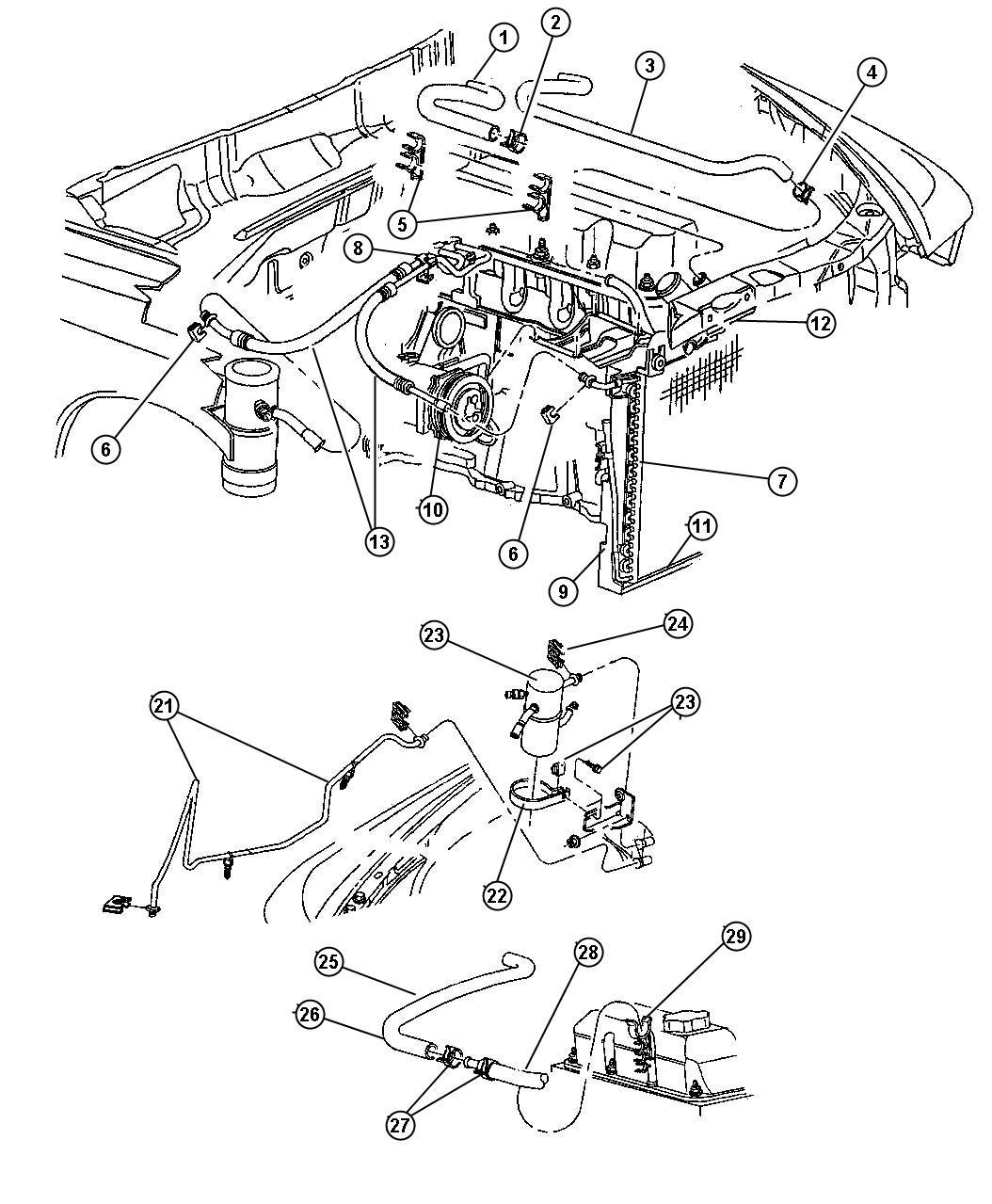 Dodge Dakota Hose Heater Supply