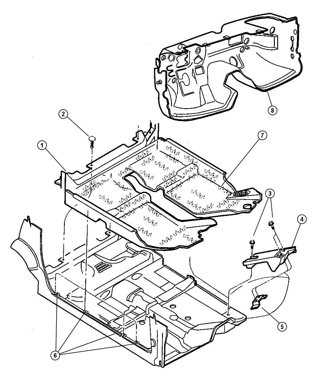 Chrysler Sebring Mat Kit Floor