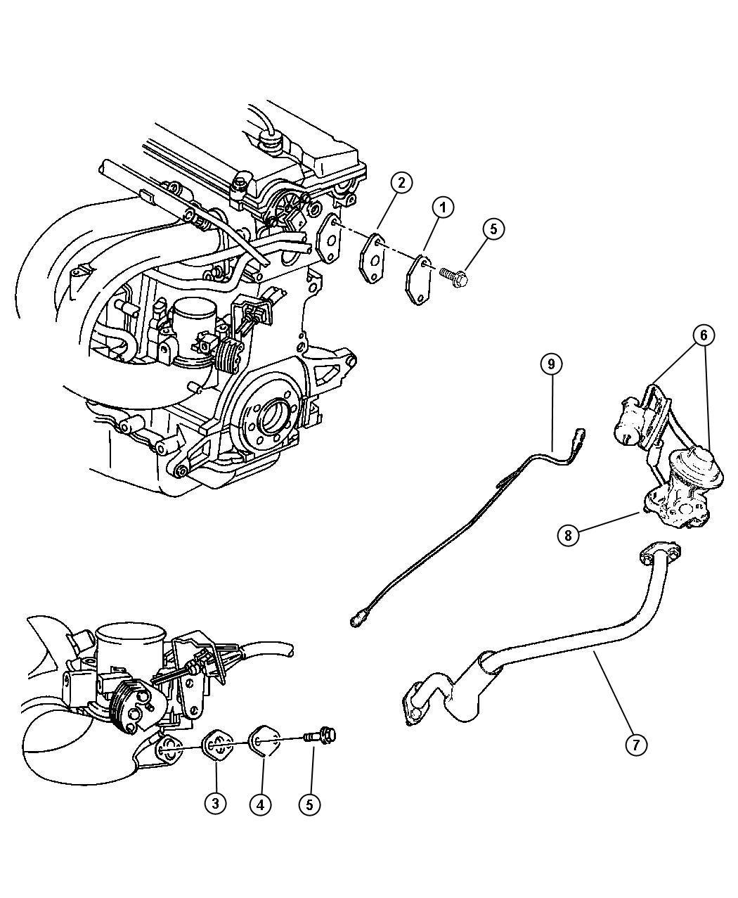 Dodge Caravan Egr System 2 4l Edz Engine