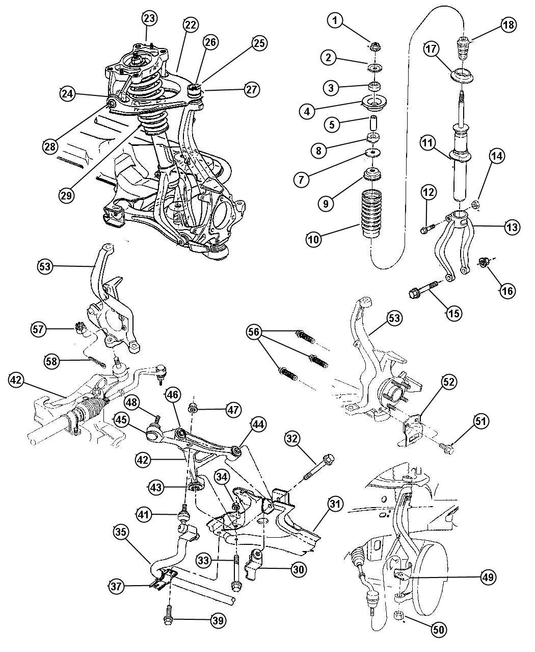 Dodge Stratus Shock Absorber Suspension Right Or Left