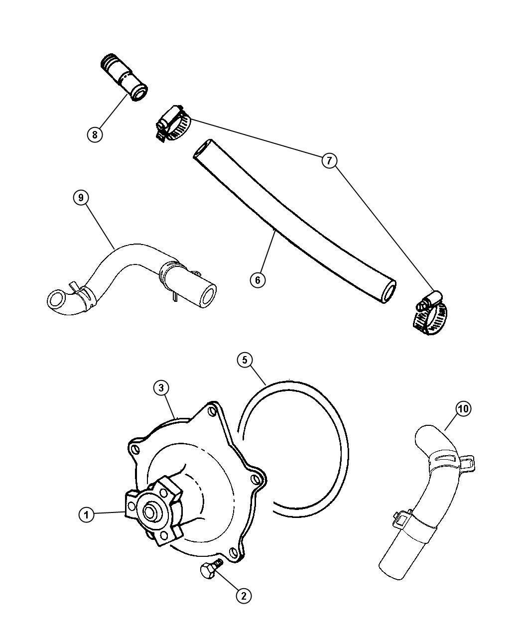 Chrysler Grand Voyager Water Pump And Related Parts