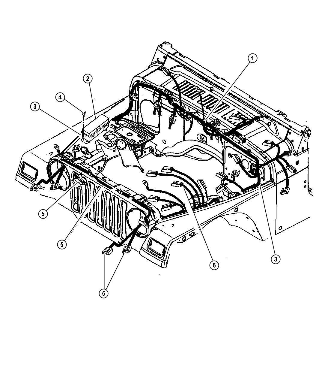 Jeep Wrangler Wiring Headlamp Dash Panel