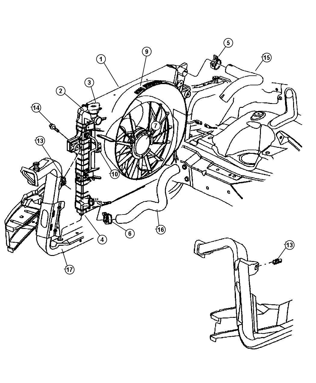 Jeep Grand Cherokee Fan Cooling Engine Fan