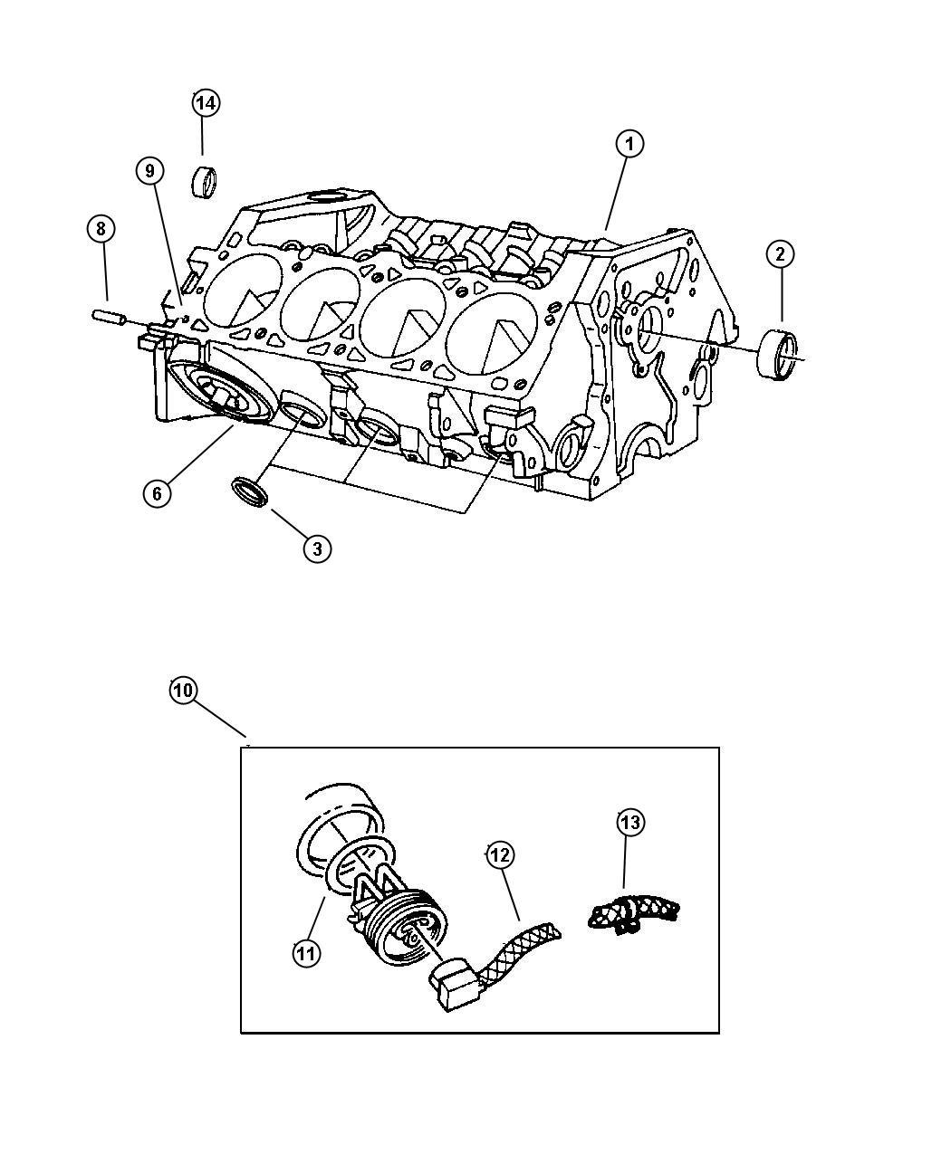 Dodge Intrepid O Ring Engine Block Heater