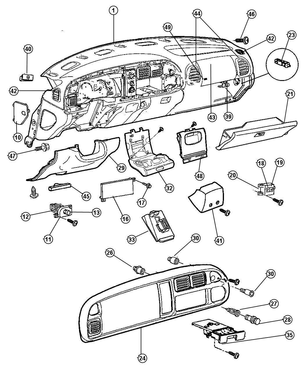 Dodge Ram Bezel Instrument Cluster Trim All