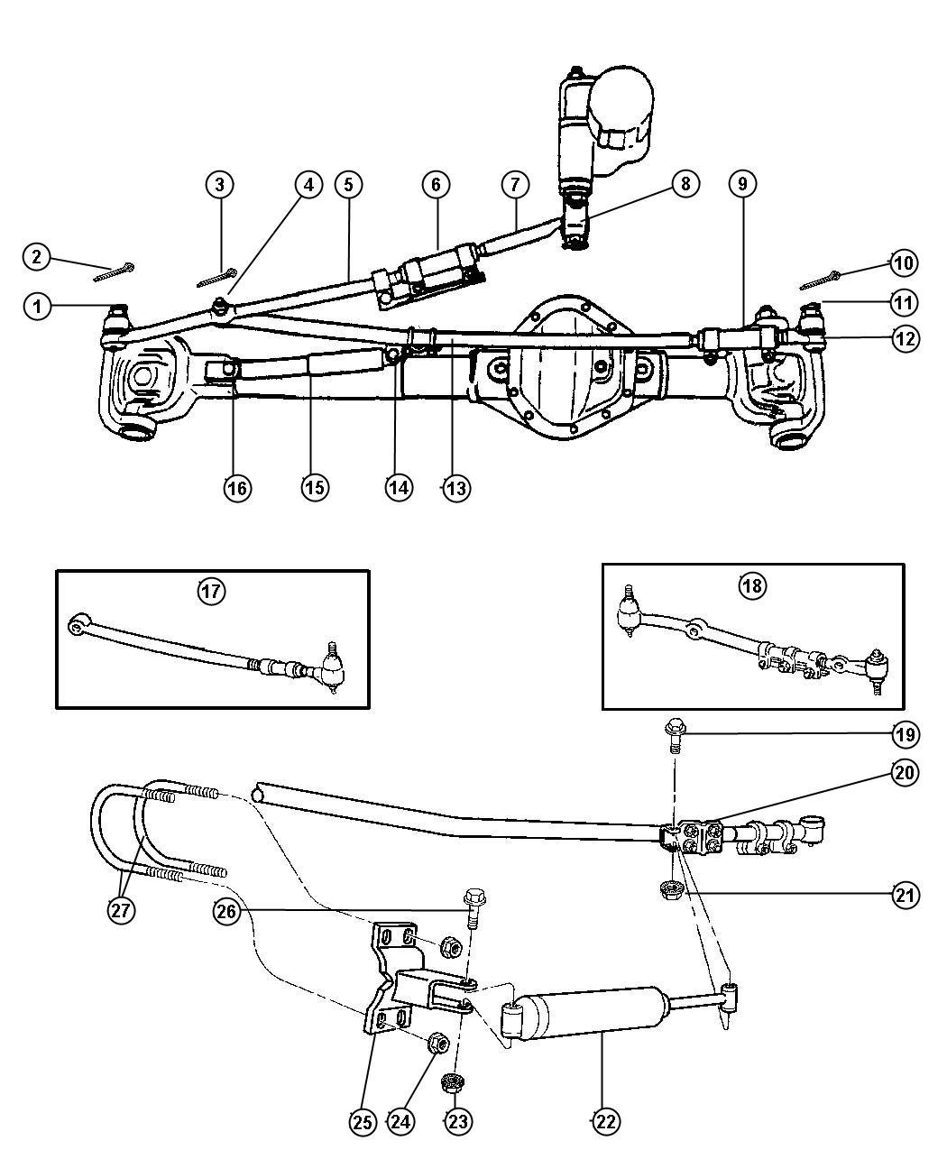 Dodge Ram Socket Drag Link Outer Z3b Z6a Z7a