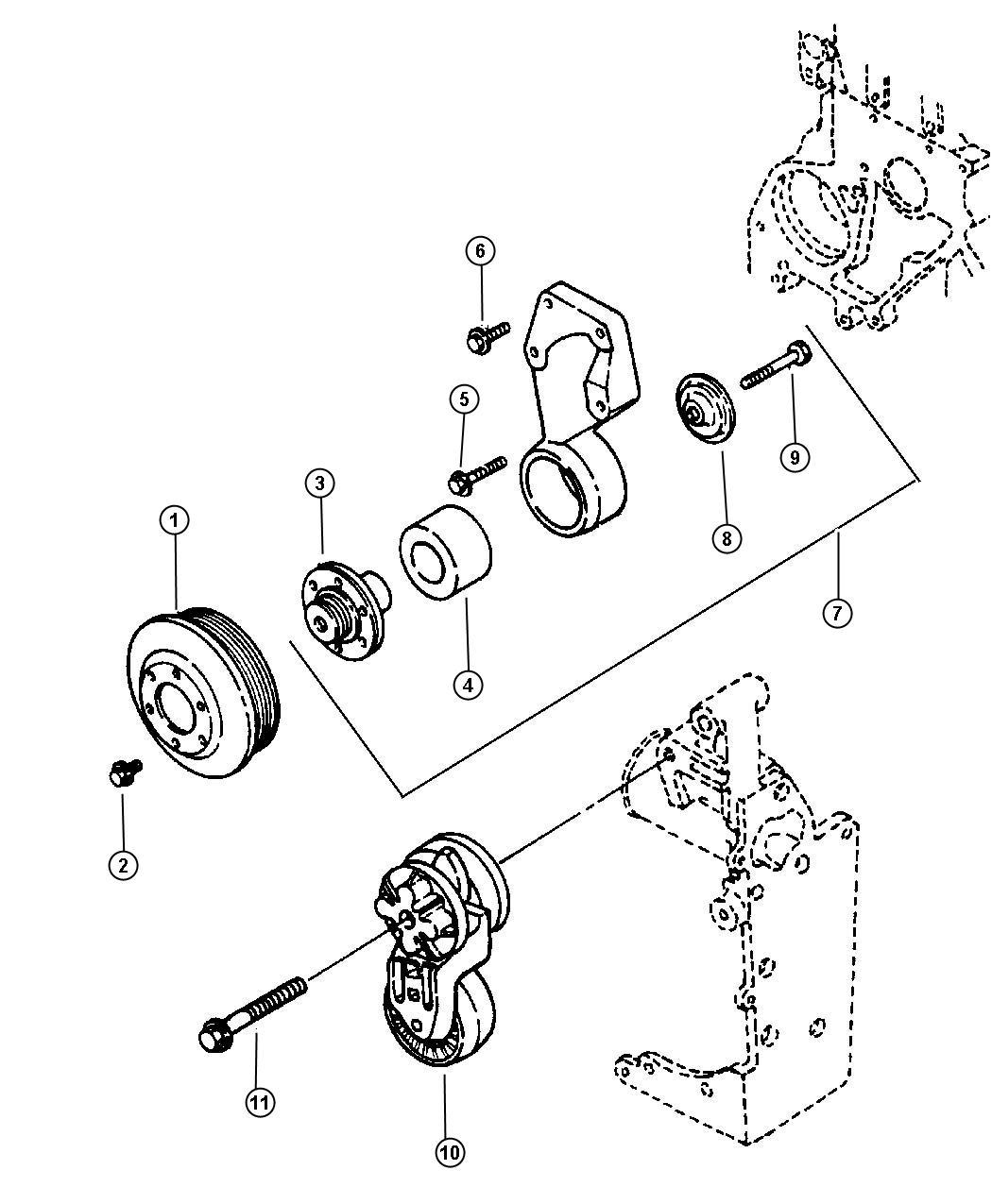 Dodge Ram Bearing Idler Pulley