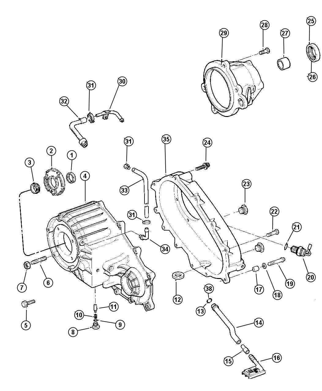 Jeep Grand Cherokee Bearing Input Gear Automatic