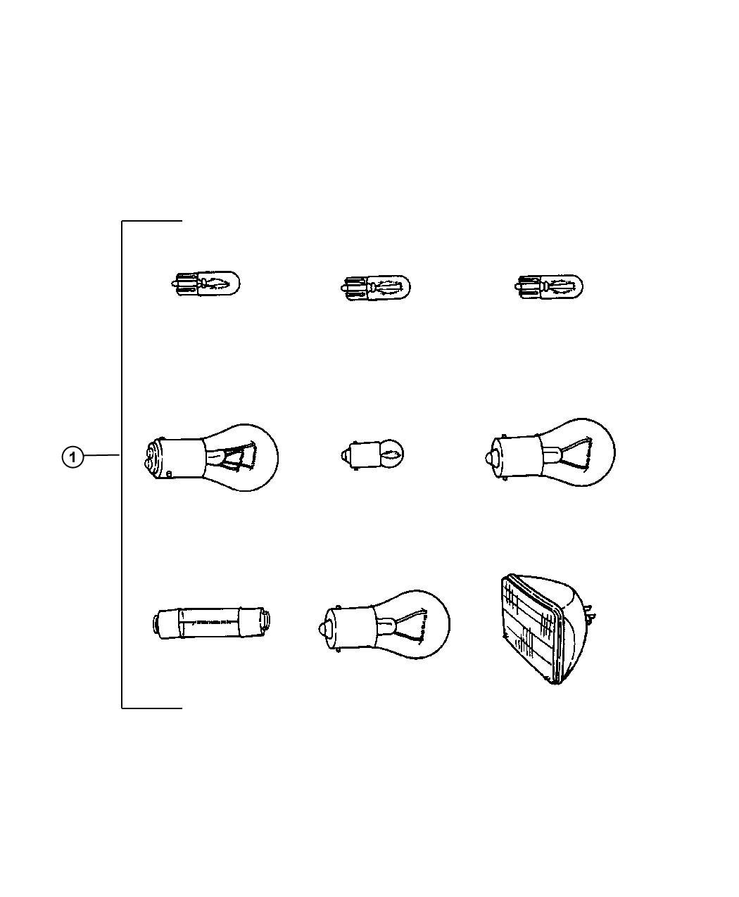 Jeep Liberty Bulb 161 Ash Receiver Ash Receiver Lamp
