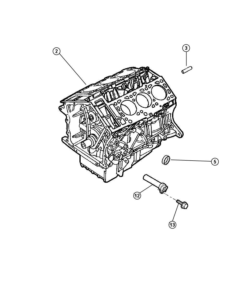 Dodge Intrepid Plug Cup Cylinder Block Oil Hole 50 O