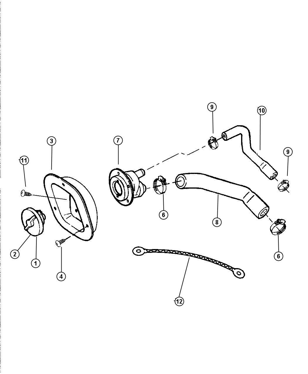 Jeep Wrangler Housing Fuel Filler