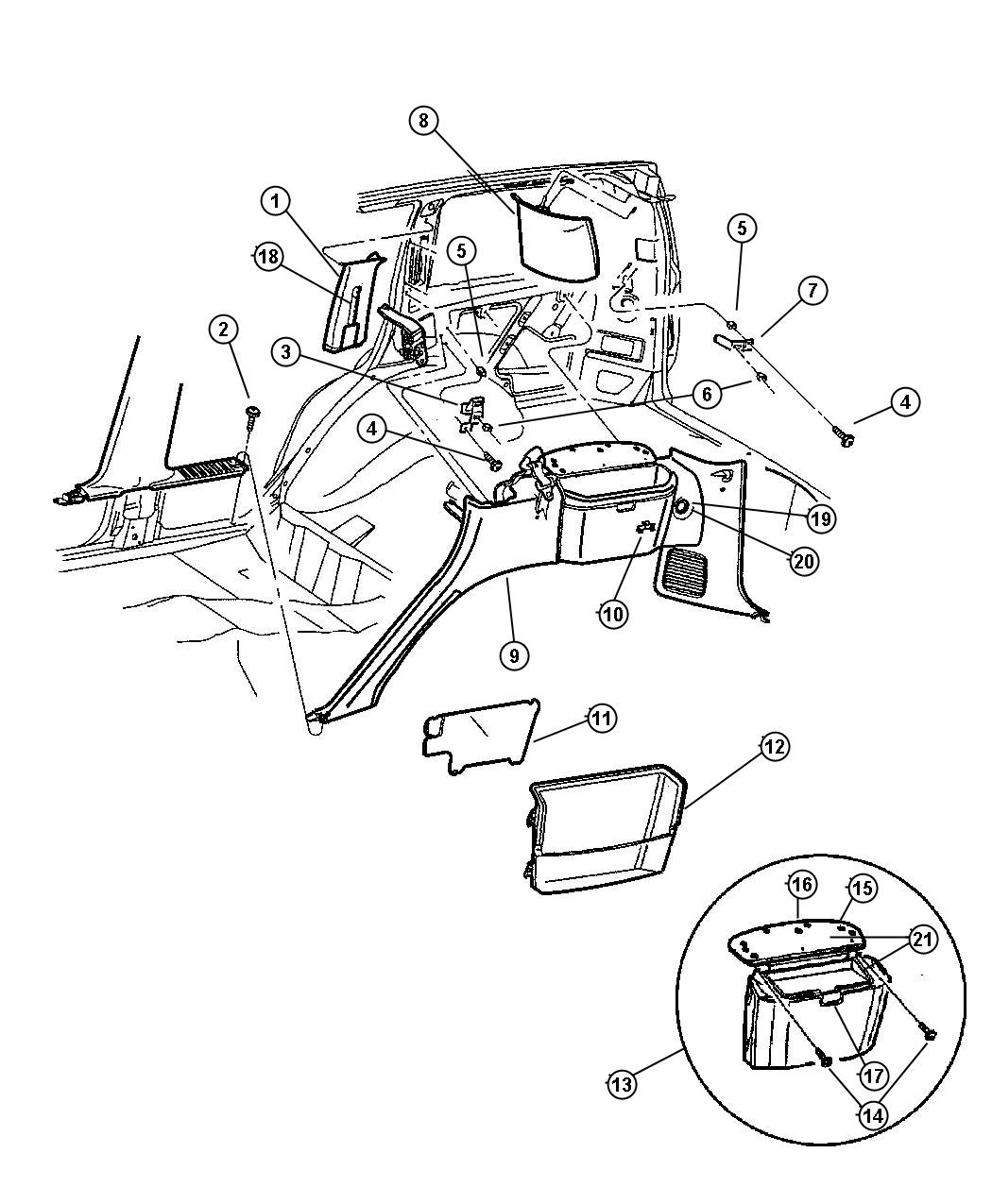 Jeep Grand Cherokee Adjuster Seat Belt Turning Loop L5