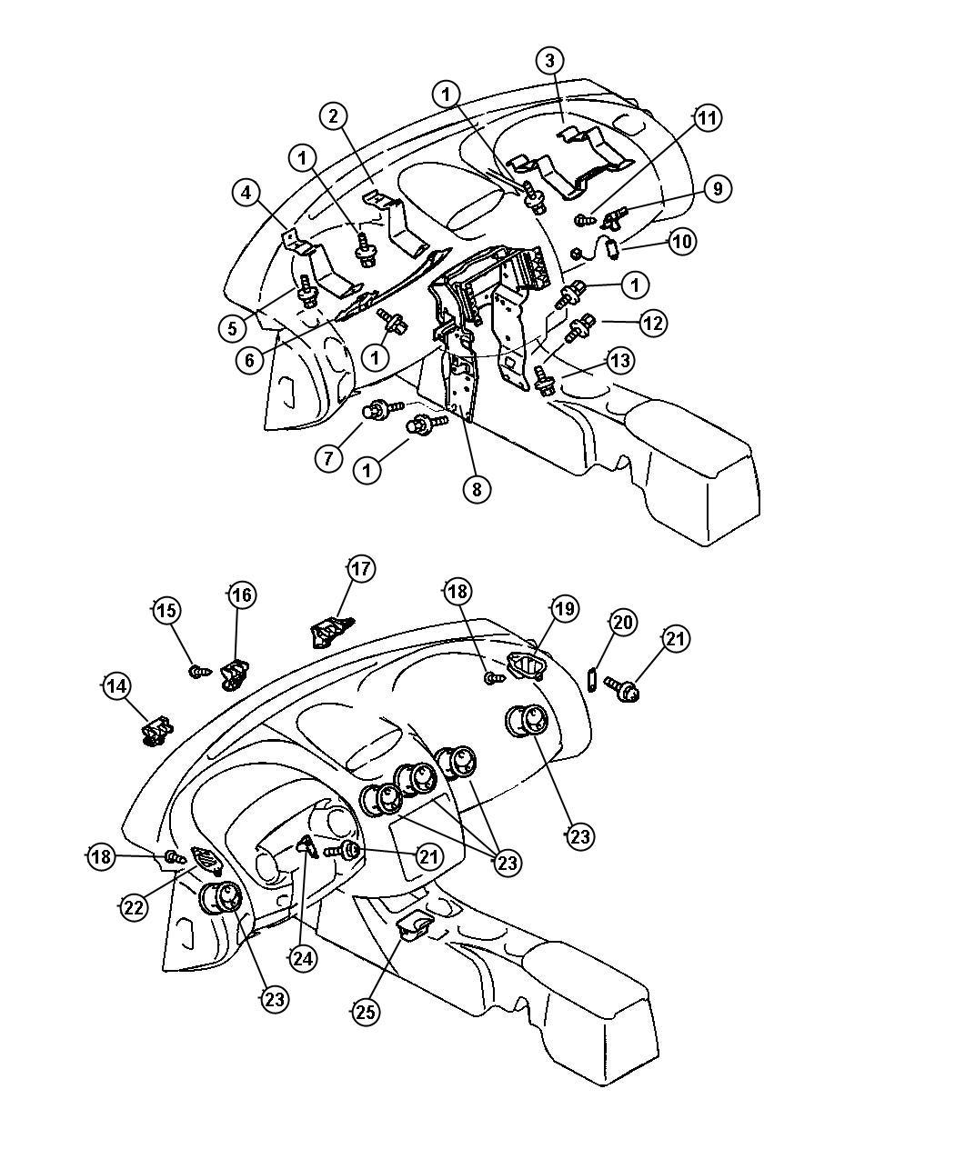Chrysler Sebring Stay Instrument Panel