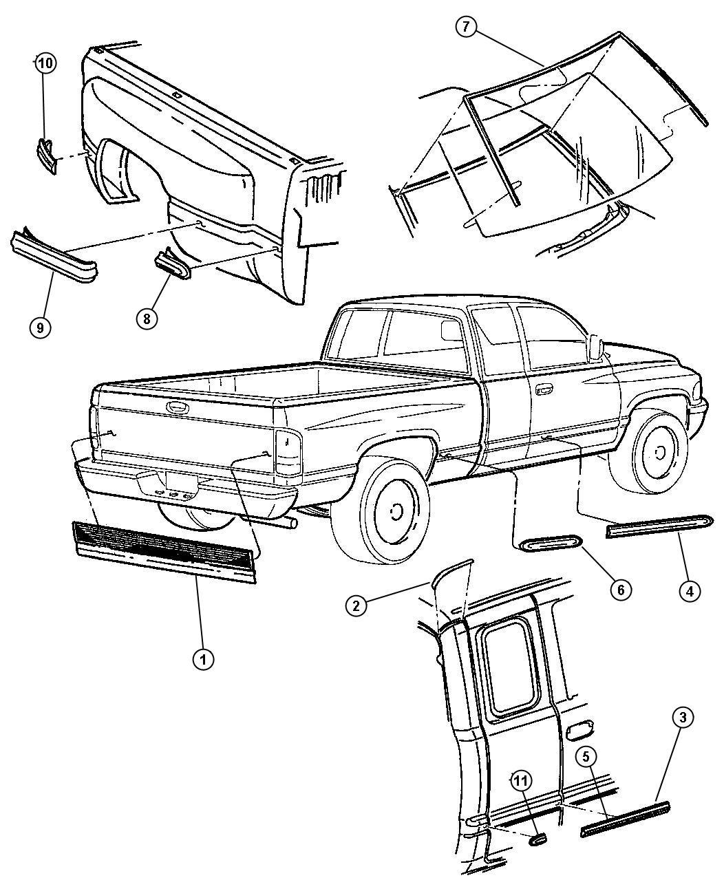 Dodge Ram Applique Tailgate Blackdual