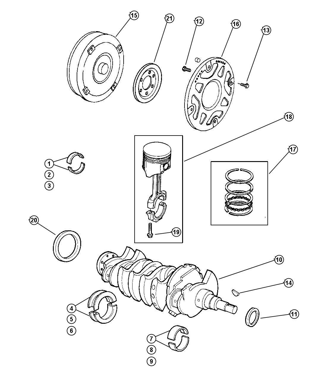 Dodge Neon Seal Crankshaft Oil Front Main