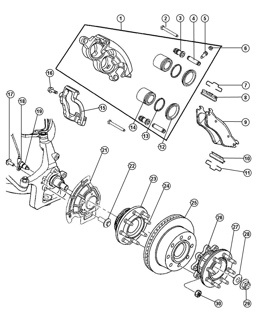 Dodge Ram Front Wheel Bearing Diagram