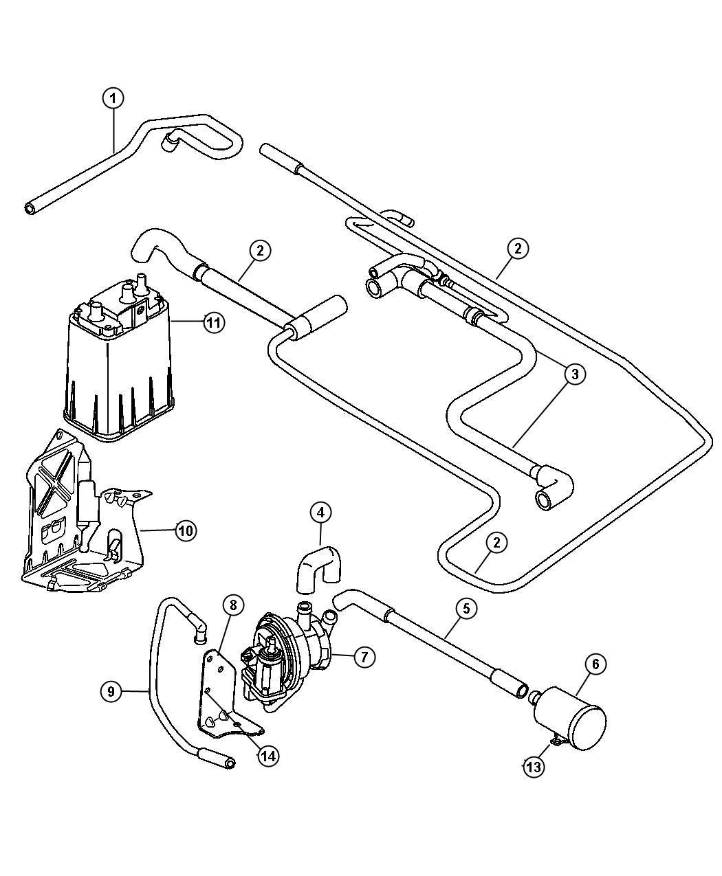 Chrysler Pt Cruiser Tube Fuel Vapor Vent Filter 50