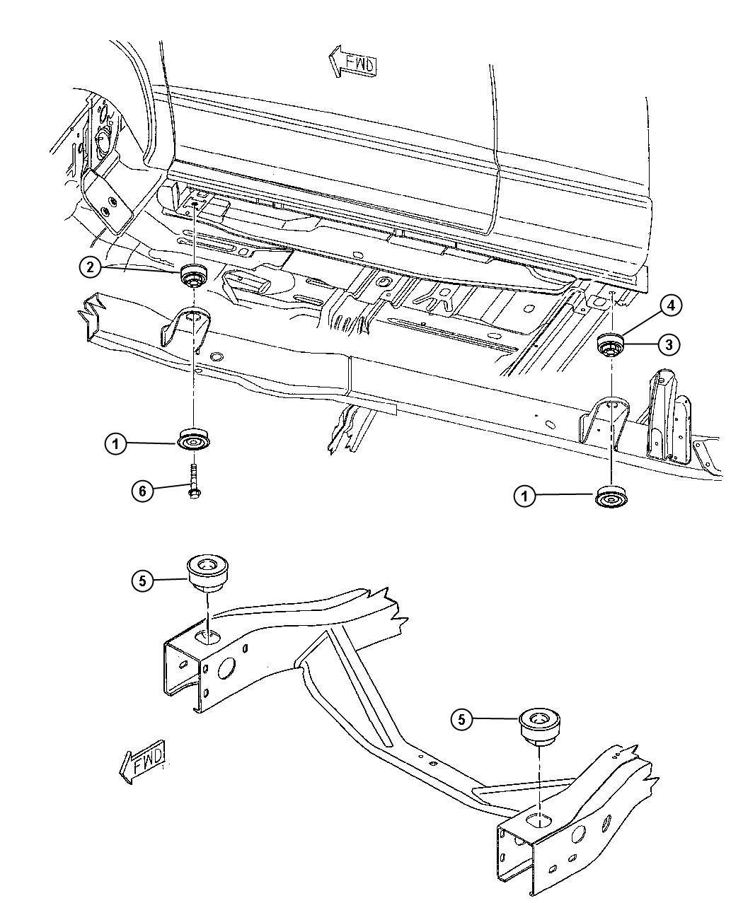 Dodge Dakota Isolator Lower Front End Sheet Metal Front