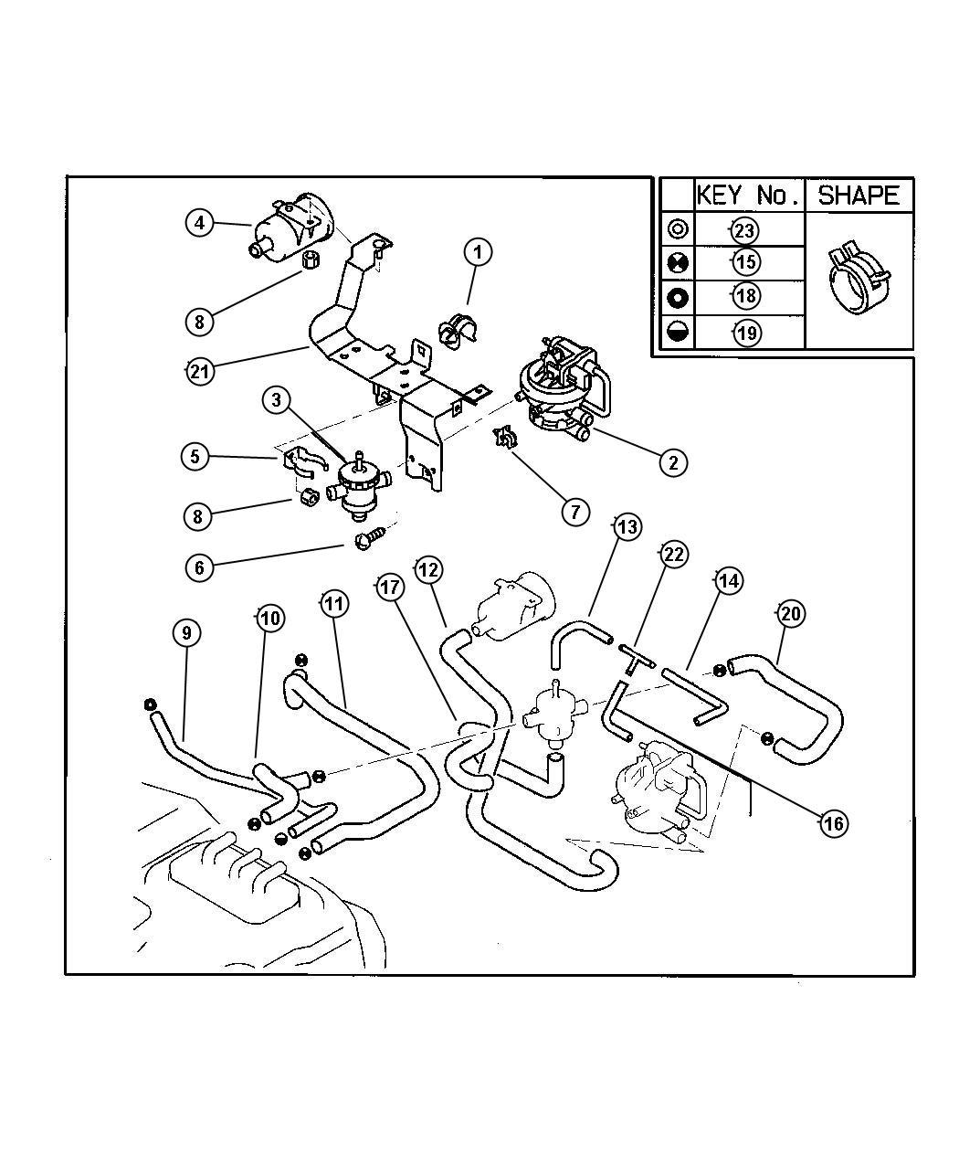 Dodge Avenger Hose Fuel Vapor Control Returnless