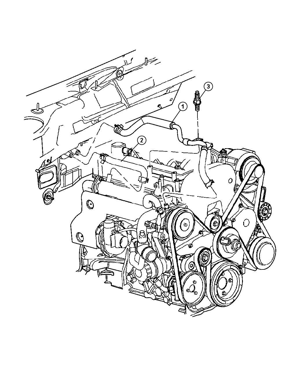 Jeep Liberty Hose Heater Supply Transmissions