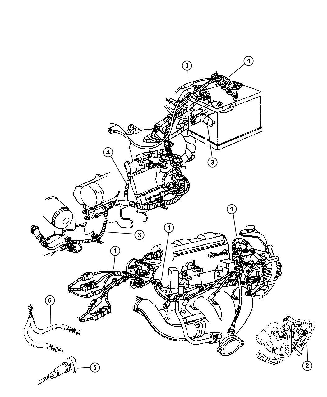 Chrysler Concorde Bracket Wiring Power Harness Bracket