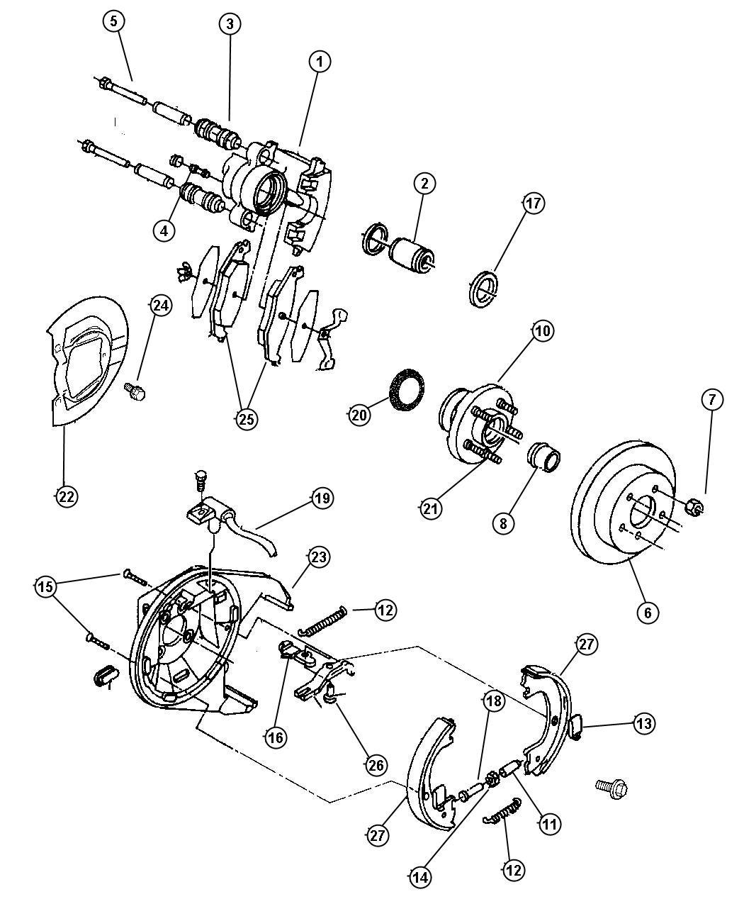 Chrysler Shield Brake Left Perfwheels Brakesall