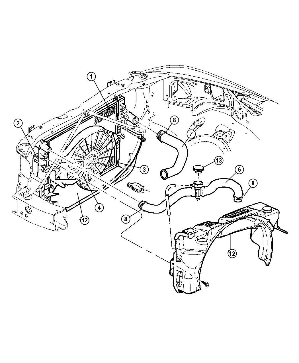 Dodge Durango Radiator Engine Cooling
