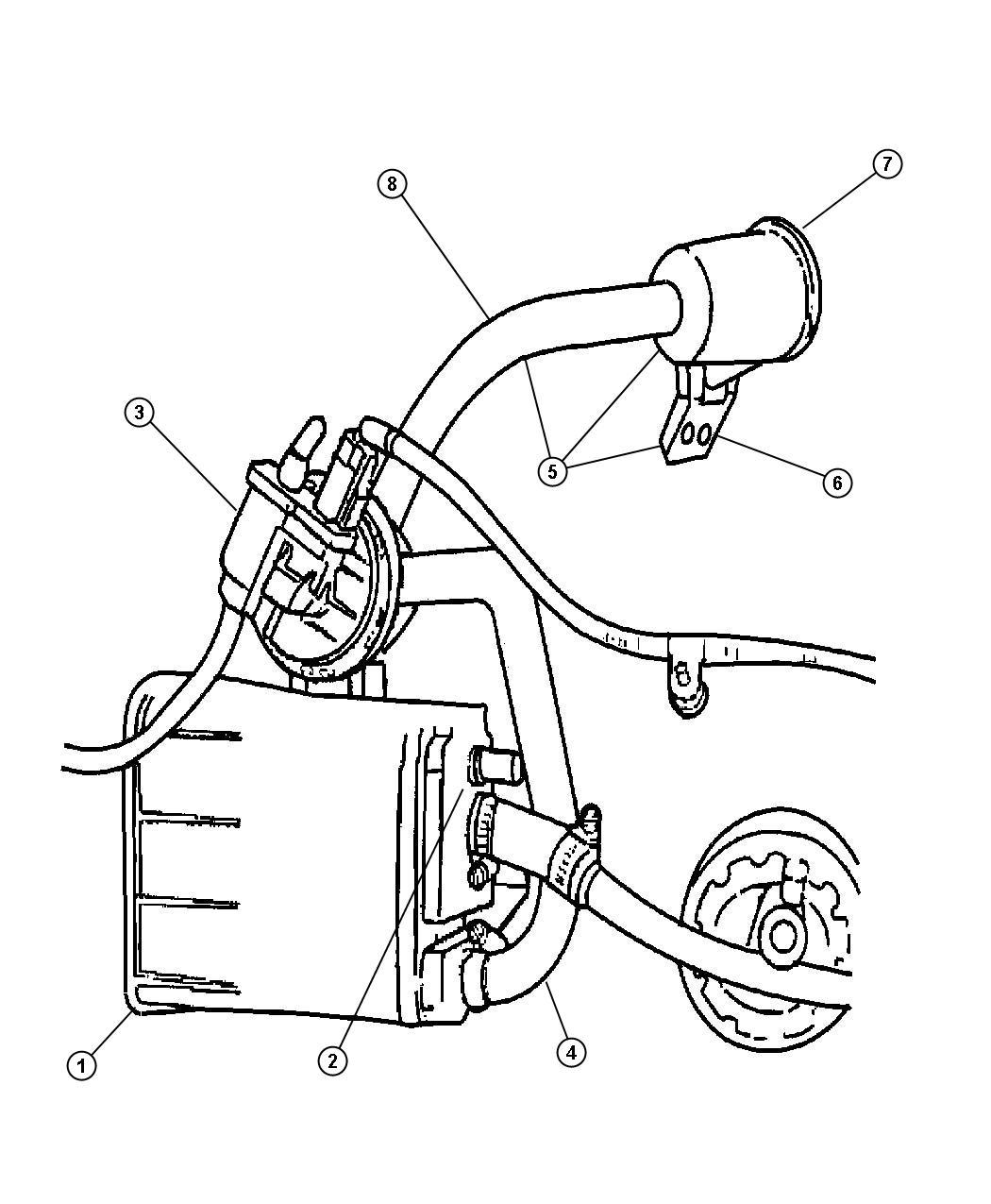 Stratus Vacuum Canister And Leak Detection Pump