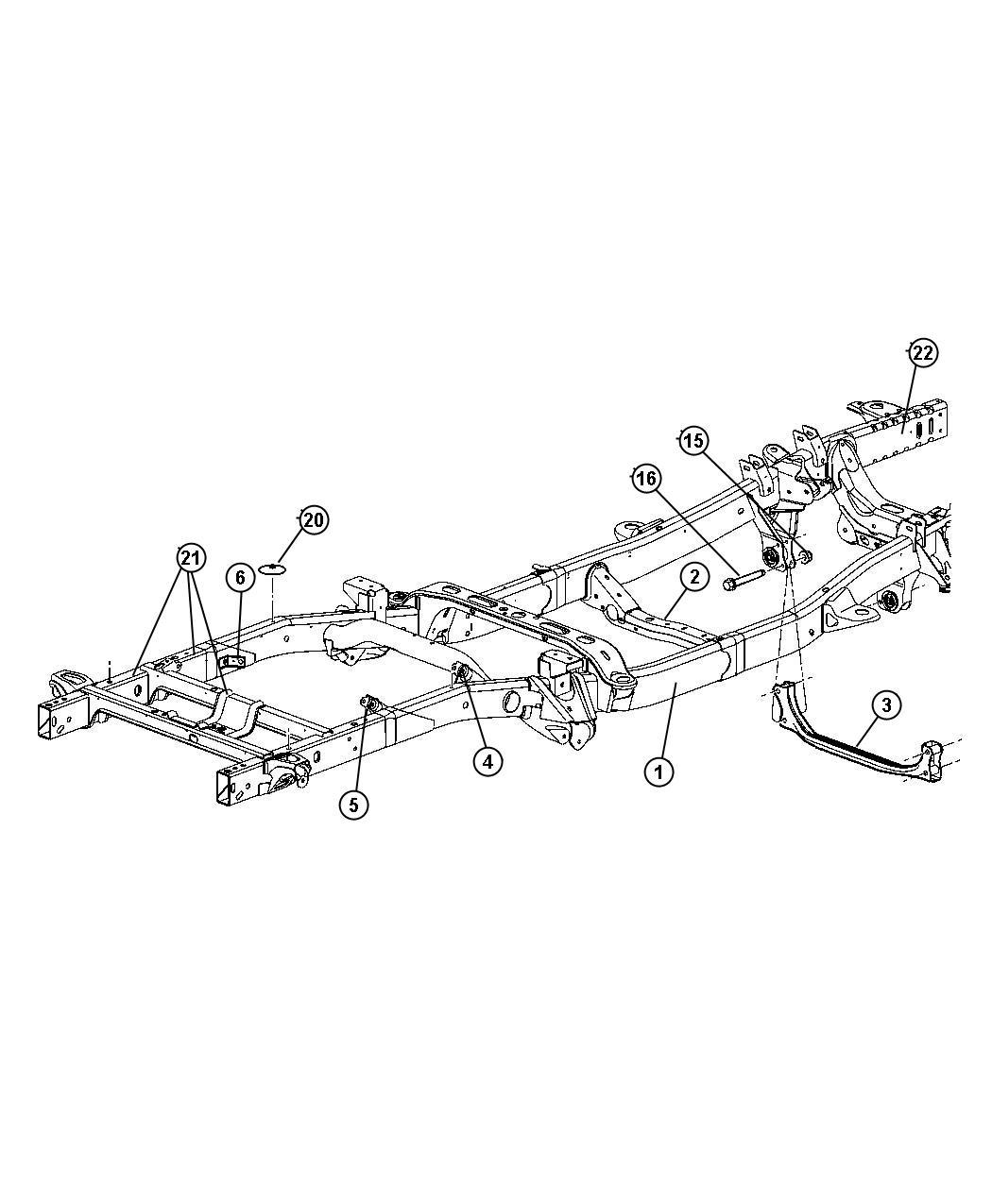 Dodge Ram Crossmember Transmission Curved