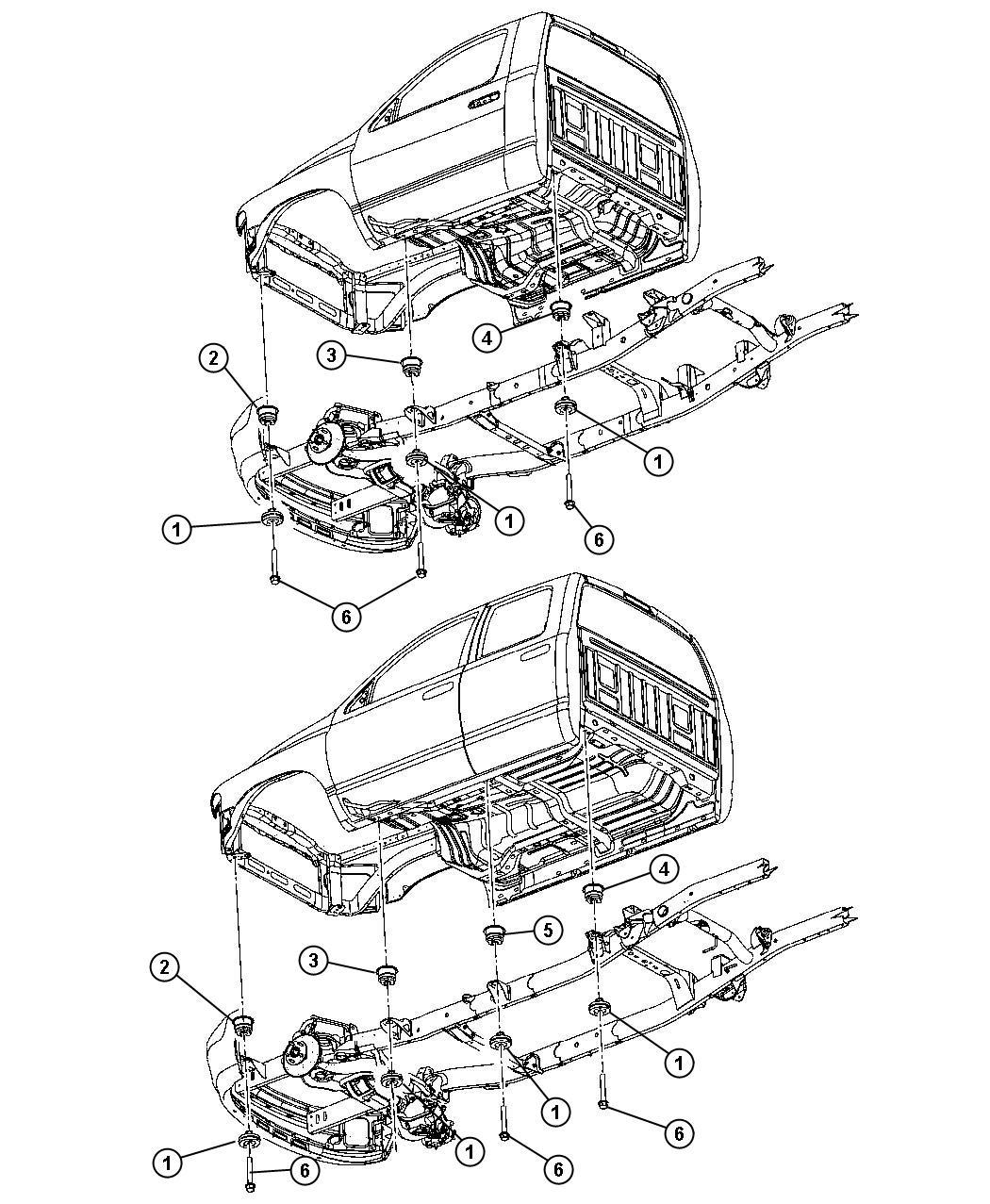Dodge Ram Insulator Body Hold Down